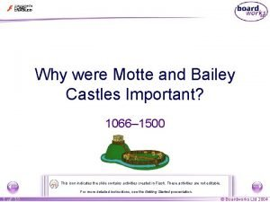 Why were Motte and Bailey Castles Important 1066