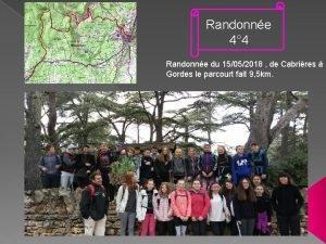 Randonne 4 4 Randonne du 15052018 de Cabrires
