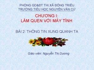 PHNG GDT TH X NG TRIU TRNG TIU