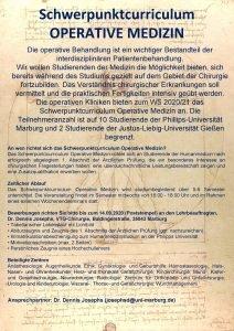 Schwerpunktcurriculum OPERATIVE MEDIZIN Die operative Behandlung ist ein