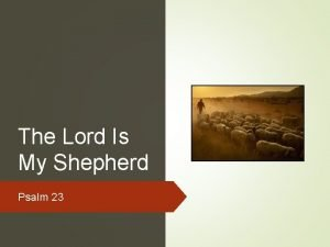 The Lord Is My Shepherd Psalm 23 Psalm