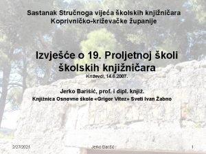 Sastanak Strunoga vijea kolskih knjiniara Koprivnikokrievake upanije Izvjee