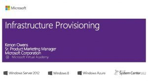 Microsoft Virtual Academy Task Virtual Machine Manager Configuration
