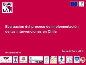 Evaluacin del proceso de implementacin de las intervenciones