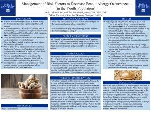 Management of Risk Factors to Decrease Peanut Allergy