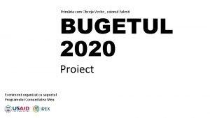 Primria com Obreja Veche raionul Falesti BUGETUL 2020