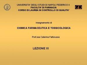 UNIVERSITA DEGLI STUDI DI NAPOLI FEDERICO II FACOLTA