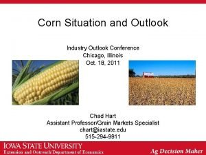 Corn Situation and Outlook Industry Outlook Conference Chicago
