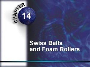 14 Swiss Balls and Foam Rollers Swiss ball