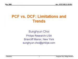 May 2000 doc IEEE 802 11 01054 PCF
