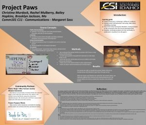 Project Paws Christina Murdock Rachel Mulberry Bailey Hopkins
