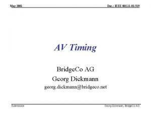 May 2001 Doc IEEE 802 11 01319 AV