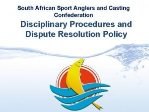 South African Sport Anglers and Casting Confederation Disciplinary
