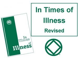 In Times of Illness Revised In Times of