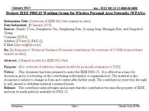 January 2013 doc IEEE 802 15 13 0008