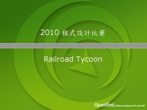 2010 Railroad Tycoon Railroad Tycoon The Map 2