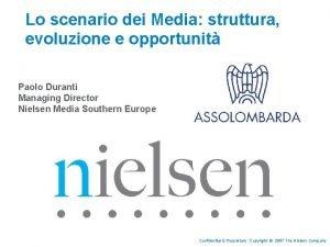 Lo scenario dei Media struttura evoluzione e opportunit