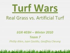 Turf Wars Real Grass vs Artificial Turf EGR