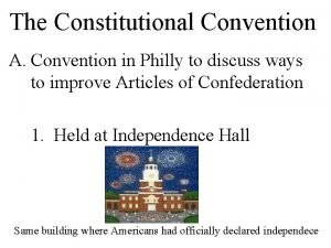 The Constitutional Convention A Convention in Philly to