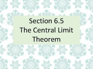 Section 6 5 The Central Limit Theorem Distribution
