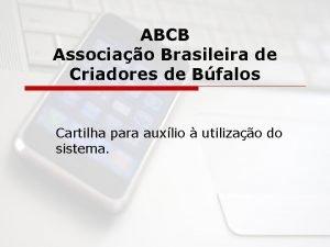 ABCB Associao Brasileira de Criadores de Bfalos Cartilha