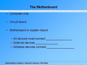 The Motherboard Computer chip Circuit board Motherboard or