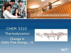 CHEM 3310 Thermodynamics Change in Gibbs Free Energy