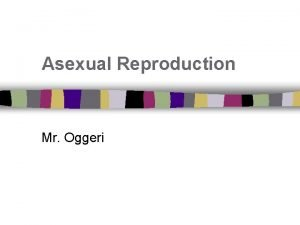 Asexual Reproduction Mr Oggeri I Can Define asexual