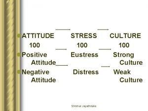l ATTITUDE 100 l Positive Attitude l Negative