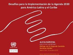 Desafos para la Implementacin de la Agenda 2030