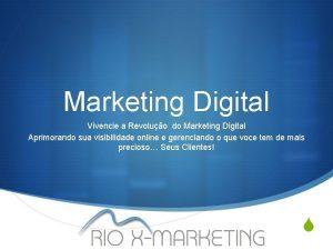 Marketing Digital Vivencie a Revoluo do Marketing Digital