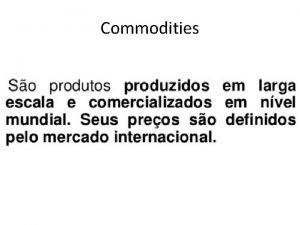 Commodities A Estrutura Fundiria do Brasil Brasil uma