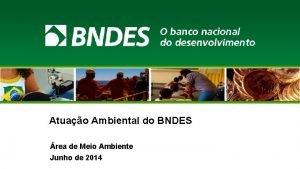 Atuao Ambiental do BNDES rea de Meio Ambiente