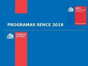 PROGRAMAS SENCE 2018 2401003 BECAS FCS Becas Fondo