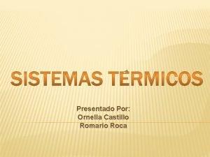 Presentado Por Ornella Castillo Romario Roca 22022021 Sistemas