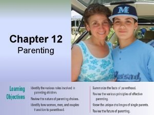 Chapter 12 Parenting Chapter 12 Parenting Introduction Quote