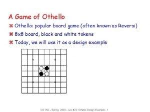 A Game of Othello z Othello popular board