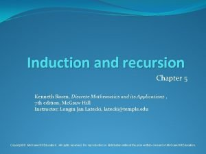 Induction and recursion Chapter 5 Kenneth Rosen Discrete