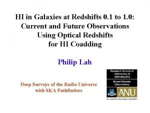 HI in Galaxies at Redshifts 0 1 to