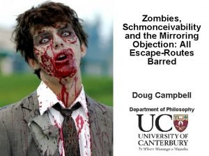 Zombies Schmonceivability and the Mirroring Objection All EscapeRoutes