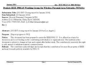 January 2014 doc IEEE 802 15 14 0064