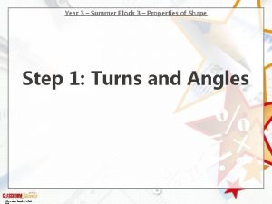 Year 3 Summer Block 3 Properties of Shape