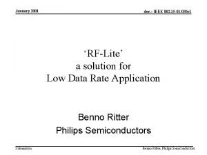 January 2001 doc IEEE 802 15 01036 r