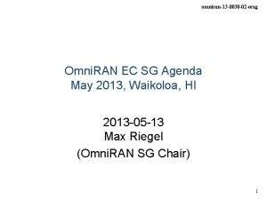 omniran13 0030 02 ecsg Omni RAN EC SG