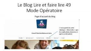 Le Blog Lire et faire lire 49 Mode