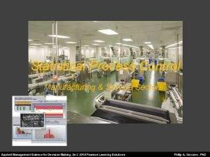 Statistical Process Control Manufacturing Service Sectors Statistical Process