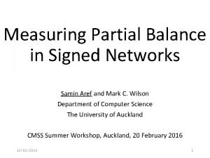 Measuring Partial Balance in Signed Networks Samin Aref