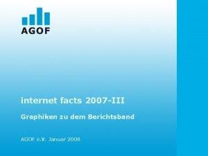 internet facts 2007 III Graphiken zu dem Berichtsband