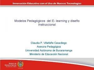 Modelos Pedaggicos del E learning y diseo Instruccional