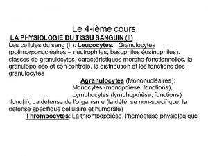 Anglais leucocyte amricain leukocyte Terme issu du Grec